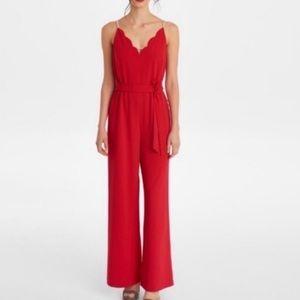 Karl Lagerfeld Jumpsuit Red Pearl Detailed